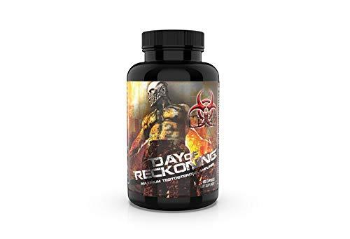 Apocalypse Labz Day of Reckoning - Testosterone-Boosting Supplement, Natural Energy Booster - Tribulus Terrestris, D-Aspartic Acid, Ashwagandha, Maca, Fenugreek Seed, Stinging Nettle - 180 Capsules