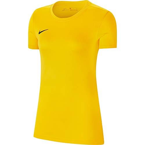 Nike Women's Park VII Jersey Short Sleeve, Maglia Maniche Corte Donna, Giallo, S
