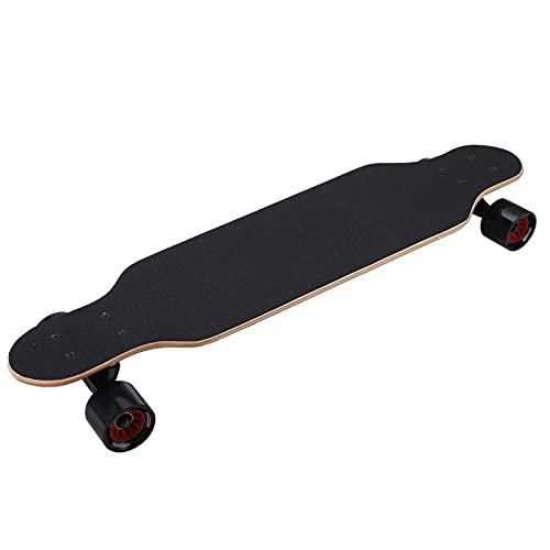 Keenso Patineta de 4 Ruedas, 31.3 x 7.9 x 3.7in Patineta Completa Maple Longboard Skateboard Deck Concave Cruiser Trick Skateboard Patrón de Bandera Estadounidense para Principiantes, niños, Adultos