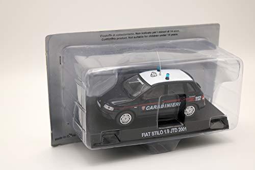 Die Cast Modellino Auto Carabinieri Fiat Stilo 1.9 JTD 2001 - Scala 1:43 – Blu