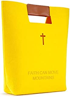 Bible Bag,Bible Carrying Case,Church Bag,Christian Bible Tote Bag for Women Men Girls,Carved Cross Holy Bible Bag,Felt Tot...