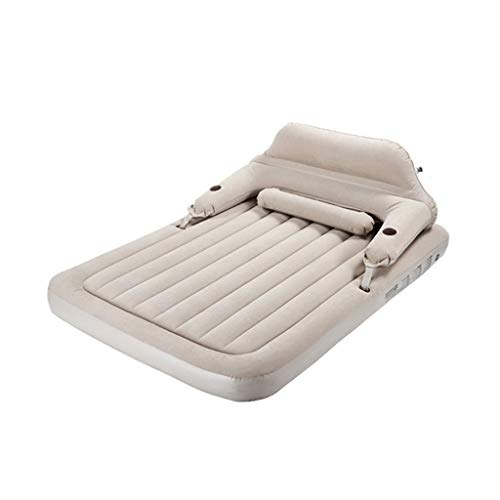 Zholei Opblaasbaar bed, comfortabel, groot opblaasbaar, met rugleuning, opblaasbaar, draagbaar, lunchpauze, luchtmatras, huishouden, matras, verdikt, outdoor camping, opblaasbaar bed met luchtpomp