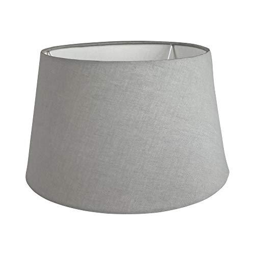 Wogati Premium Lampenschirm 30 cm x 23 cm x 18 cm / Grau / Stoff / E14 / E27 / inkl. Adapter