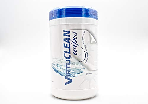 VirtuCLEAN Cpap Mask Cleaner Wipes - 80 Pack Unscented