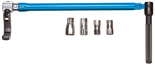GEDORE Standhahnmutterschlüssel, Für Einhebelmischbatterien und Standhähne, Schwenkbare Klaue für Rechts- und Linksgang, Blau