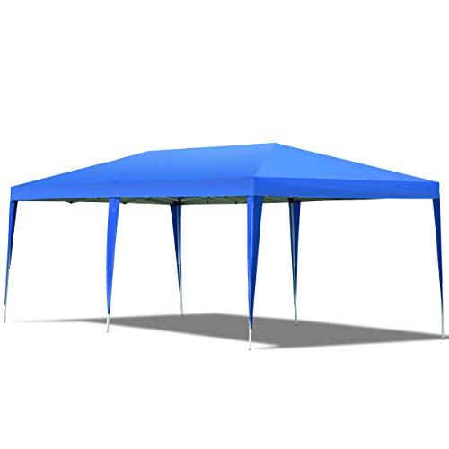 RELAX4LIFE Faltpavillon Oxfordstoff, Gartenpavillon Faltbar, Pavillon Inkl. Tragetasche, Faltzelt, Wasserabweisendes Partyzelt, Gartenzelt mit UV-Schutz, 3 x 6 x 2,5 m, Farbauswahl Verfügbar (Blau)