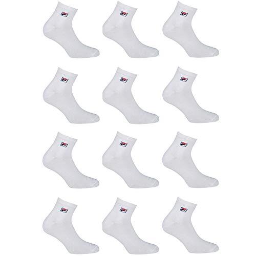 Fila Calcetines de deporte para Hombre, Blanco, 39/42 (pack de 12)