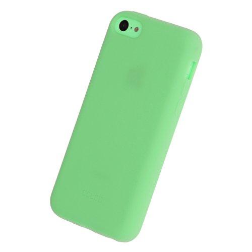 doupi PureColor Silicone TPU Case per iPhone 5C SolidFit all-Round della Protezione Guscio in Gomma Cover, Verde
