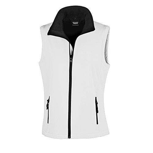Result Core Damen Softshell-Weste, bedruckbar (2XL) (Weiß/Schwarz)