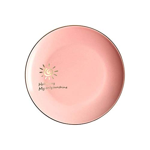 Mzxun Scrub cerámica occidental plato de fruta placa Phnom Pan Plato nórdica creativo vajilla Rosa P 8 pulgadas