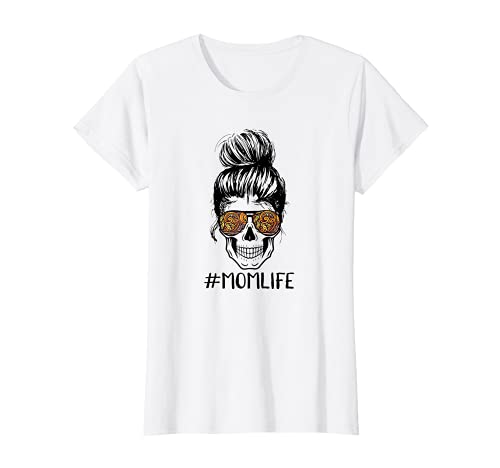 Damen Cooles Mom Life Design für Mama mit Totenkopf T-Shirt