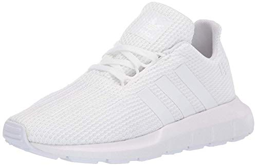 adidas Originals Kids Unisex's Swift Running Shoe, White/White/White, 5 M US Big Kid