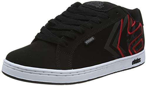 Etnies Metal Mulisha Fader, Zapatillas de Skateboard Hombre, Negro (978/Black/White/Red 978), 45 EU
