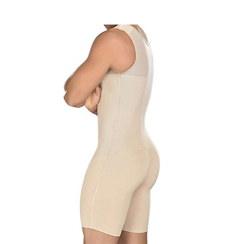 TOBEEY Herren Shapewear Bodysuit Firm Compression Bauch Fatburner Plus Size Schwarz Nude Shapewear
