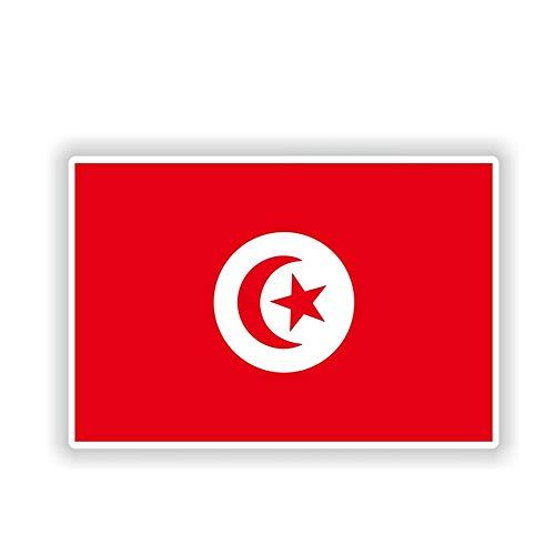 12.3 Cm * 8.2 Cm Personalidad Túnez Bandera Etiqueta Engomada Del Coche Ventana Cuerpo Calcomanía Accesorios Del Coche
