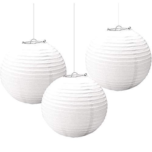 Amscan 3 lampions, wit.