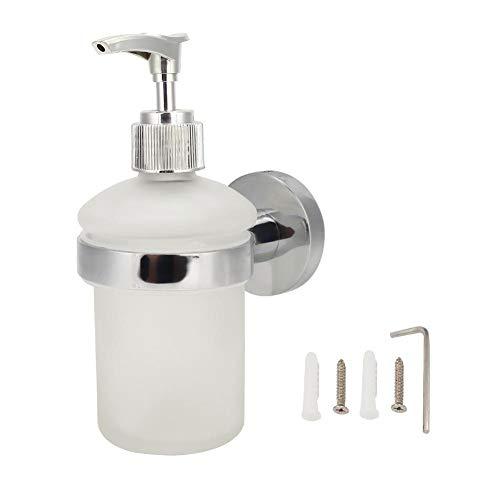 Roestvrijstalen badkamerzeepdispenser, wandgemonteerde handmatige handzeep voor vloeibare lotiondispenser Shampoo-container voor hotelbadkamer
