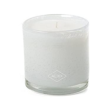 Alixx Tea Time White 90-Hour Glass Candle