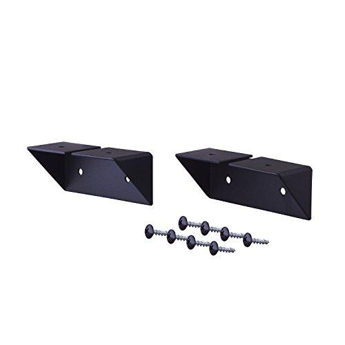 平安伸銅工業 LABRICO DIY収納パーツ 棚受 シェルフサポート アイアン 屋外使用可 ブラック IXK-2