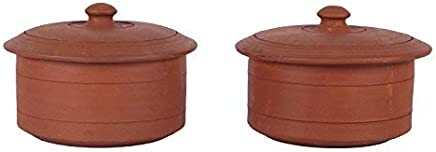 Village Décor 500 ml Clay Curd Pots (Brown) - Pack of 2