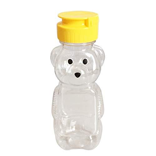 Facibom - 30 recipientes de plástico suave para alimentos de 240 ml para condimento de miel de ketchup mermelada dispensador de botellas
