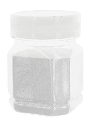 MIK Funshopping Schimmernder Glitzerpuder Glitzer-Pulver zum Basteln und Verzieren von Karten, bunter Glitter für Dekoration, 115g (Weiß)