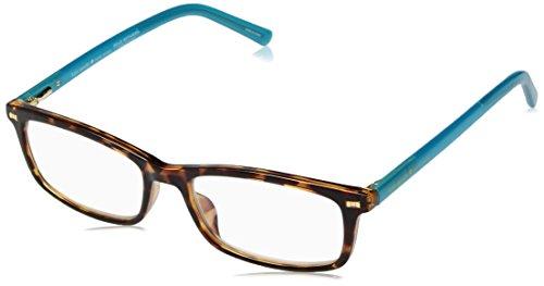 Kate Spade New York Women's Jodie 2 Rectangular Reading Glasses, DKHAVANA, 50 mm + 1