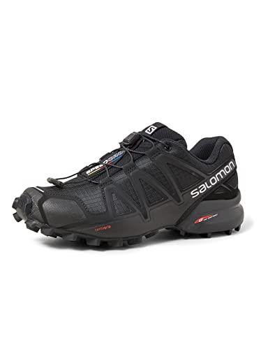 Salomon Speedcross 4 Mujer Zapatos de trail running, Negro (Black/Black/Black Metallic), 38 EU