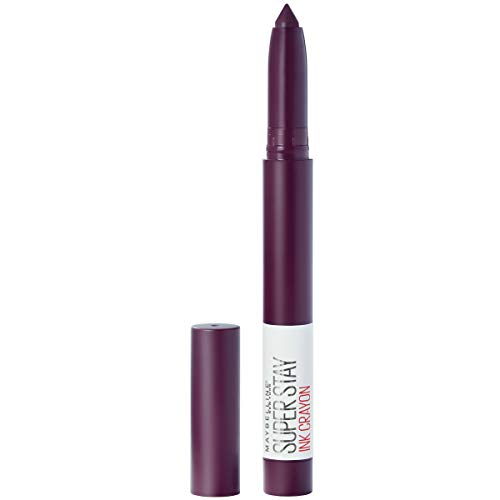 Maybelline SuperStay Ink Crayon Matte Longwear Lipstick With Built-in Sharpener, Forget The Rules, 0.04 Ounce