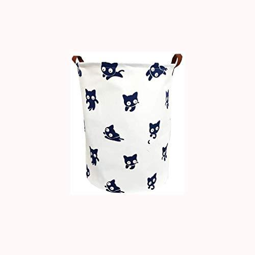 Pkfinrd Cesta de almacenamiento de tela, de lino de algodón, impermeable, cesta de lavandería, cesta de almacenamiento de desechos, cesta plegable
