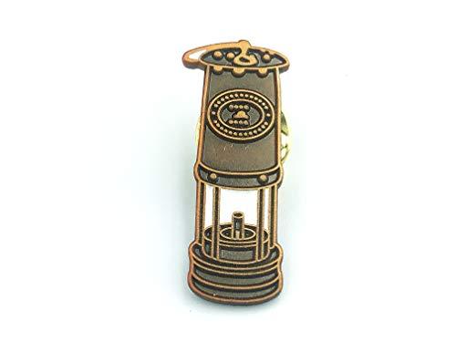 Patch Nation Bergmann Davy Lampe Sicherheitslampe Tribut an den Bergbau Coal Kohle Metall Button Badge Pin Brosche Anstecker