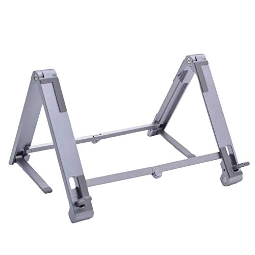 Adjustable Foldable Laptop Stand ,Portable Aluminum Alloy Laptop Holder Computer Tablet Stand Ergonomic 7 Levels Height Adjustment Compatible with All Laptops From 10-15.6'