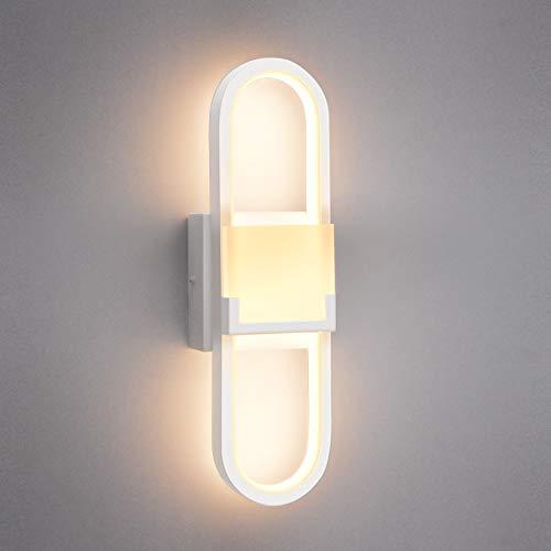 Wowatt Aplique Pared Interior LED Lámparas de Pared 18W 1440LM Iluminación Decorativa Blanco Cálido 3000k 220V No Regulable Luz de Pared Moderno para Dormitorio Sala Pasillo Escalera Cocina Comedor