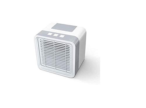 Mini aire acondicionado personal, aire acondicionado portátil, 4 en 1, ventilador, humidificador, ambientador con 3 velocidades, 7 colores LED Air Cooler para dormitorio, salón, oficina, viaje