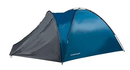 Dunlop Cúpula acampa Tiendas de campaña 3Personas, Azul/Gris, 210x 220x 130