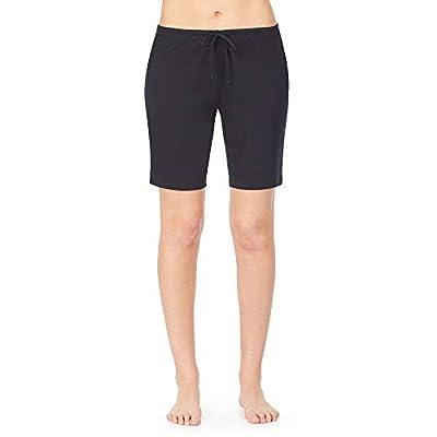 Nautica Women's Bermuda Sleep Shorts, 100% Cotton Jersey, Black, S from Nautica