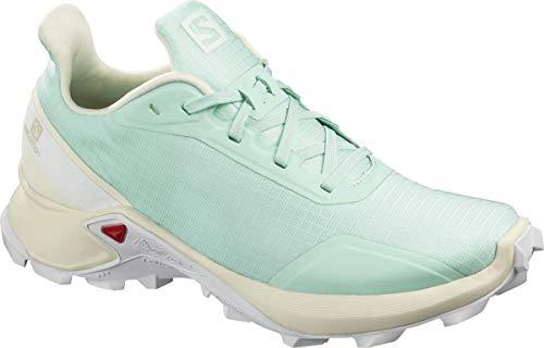 Salomon Damen Trail Running Schuhe, ALPHACROSS W, Farbe: türkis (icy morn/vanilla ice/white) Größe: EU 39 1/3