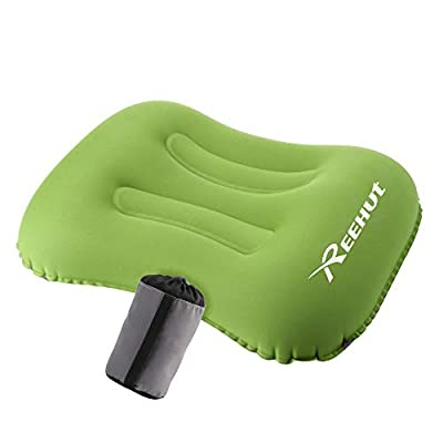 REEHUT Camping Pillow Ultralight, Travel Pillow Inflatable for Sleeping/Hiking/Backpacking - Included Storage Bag(Green)