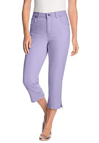 Woman Within Women's Plus Size Capri Stretch Jean - 22 W, Lavender