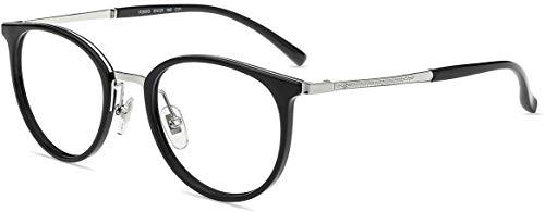 Firmoo Gafas Luz Azul para Mujer Hombre,Gafas Gaming Anti UV para PC, Móvil TV, Tablet Protección contra Luz Azul, F26813 Negro