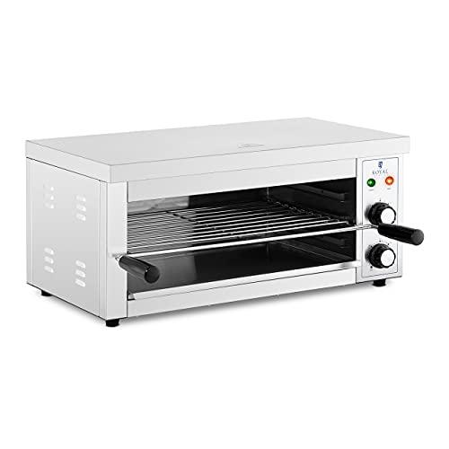 Royal Catering Horno Salamandra para Hostelería Tostador RCPES-280 (Potencia: 2.500 W, Temperatura: 50 - 300 °C, Acero inoxidable)