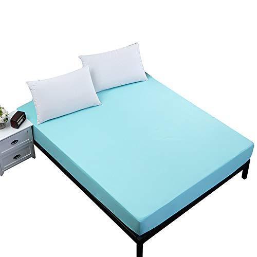 JHKJ Protectores De Colchón(Azul), Colchón Impermeable Hipoalergénico Premium Cubre, Transpirable, Color Blanco Protector De Colchón,80X200cm