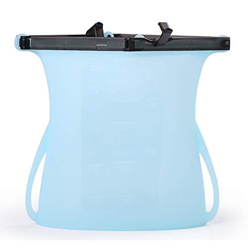 Harddo herbruikbare siliconen voedingszak, 1 stuks beweegbare siliconen, voor levensmiddelen geschikte zakjes blauw