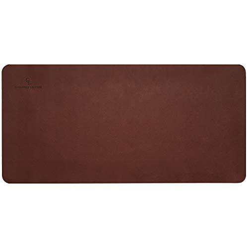 Gallaway Leather Desk Pad – 36 x 17 inch Large Mouse Pad - Desk Mat Home Office Desk Accessories Desktop Protector Non Slip Writing Desk Blotter (Dark Brown) Photo #2
