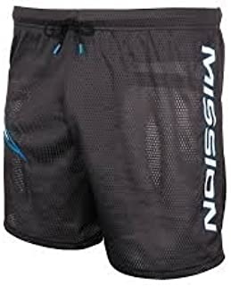 MISSION RH Mesh Senior Hockey Jock Shorts - Dark Gray Size Small