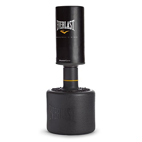 Everlast Powercore - Saco de boxeo con base, color negro