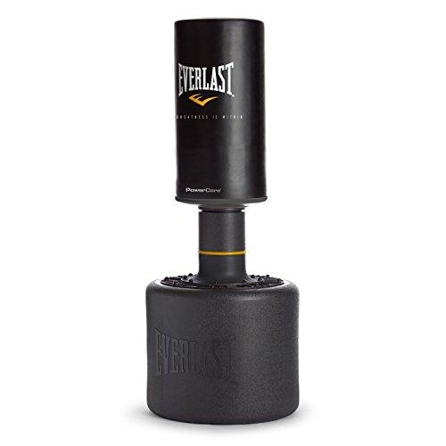 Everlast Powercore - Saco de boxeo con base, color negro