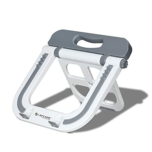 Lapcare Multi Functional Laptop Stand with Auto-Lock Joint and Max Load of 10Kg (White)