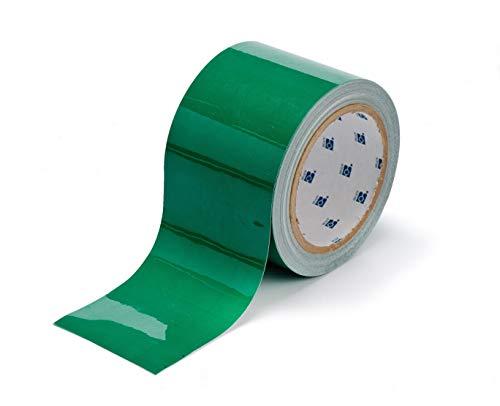 Brady 104315 ToughStripe Nonabrasive Floor Marking Tape, 100 Length, 2 Width, Green (Pack of 1 Roll)