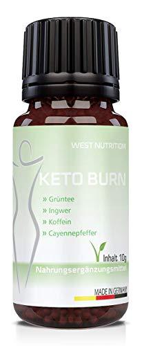 West Nutrition extrem stark KETO BURN Globuli – Sommer steht vor der Tür - natürliche Inhaltstoffe, mit Grüntee, Ingwer Cayennepfeffer - geeignet für Männer und Frauen – vegan Nahrungsergänzungsmittel